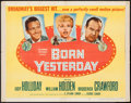"""Movie Posters:Comedy, Born Yesterday (Columbia, 1950). Trimmed Half Sheet (22"""" X 27.5""""). Comedy.. ..."""