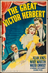 "The Great Victor Herbert (Paramount, 1939). One Sheet & Other Company One Sheet (2) (27"" X 41""). ... (Tota..."