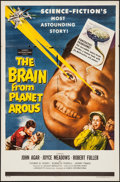 "Movie Posters:Science Fiction, The Brain from Planet Arous (Howco, 1957). One Sheet (27"" X 41"").Science Fiction.. ..."