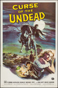 "Movie Posters:Horror, Curse of the Undead (Universal International, 1959). One Sheet (27"" X 41""). Horror.. ..."