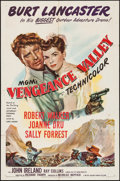 """Movie Posters:Western, Vengeance Valley (MGM, 1951). One Sheet (27"""" X 41""""). Western.. ..."""
