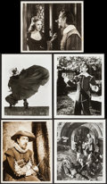 """Movie Posters:Drama, Cyrano de Bergerac Lot (United Artists, 1950). Photos (5) (8"""" X 10"""", 8"""" X 10.25"""", 8.25"""" X 10), British Front Of House Photos... (Total: 10 Items)"""