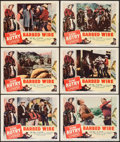 "Movie Posters:Western, Barbed Wire (Columbia, 1952). Lobby Cards (10) (11"" X 14""). Western.. ... (Total: 10 Items)"