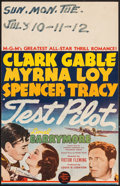 "Movie Posters:Action, Test Pilot (MGM, 1938). Window Card (14"" X 22""). Action.. ..."