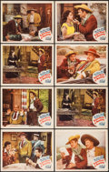 "Movie Posters:Adventure, Robin Hood of Monterey (Monogram, 1947). Lobby Cards (8) (11"" X14""). Adventure.. ... (Total: 8 Items)"