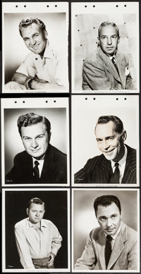 """Mickey Rooney by Mal Bulloch & Others Lot (Paramount, 1954). Portrait Photos (3) (8"""" X 10""""), Keybook P..."""