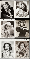 """Movie Posters:Miscellaneous, Gene Tierney & Others Lot (Paramount, 1950). Keybook Photos (8) (8"""" X 11"""") and Portrait Photos (10) (7.5"""" X 9.5"""" & 8"""" X 10"""")... (Total: 18 Items)"""