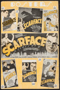 """Movie Posters:Crime, Scarface (United Artists, 1932). Partial Pressbook (2 Pages, 12"""" X18""""). Crime.. ..."""