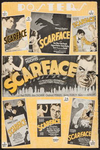 """Scarface (United Artists, 1932). Partial Pressbook (2 Pages, 12"""" X 18""""). Crime"""