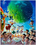 Memorabilia:Disney, Carl Barks An Astronomical Predicament Signed Limited Edition Lithograph Print #215/345 (Another Rainbow, 1990).... (Total: 2 Items)