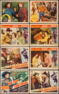 "Movie Posters:Western, The Man from Tumbleweeds & Others Lot (Columbia, 1940). Title Lobby Card and Lobby Cards (7) (11"" X 14""). Western.. ... (Total: 8 Items)"
