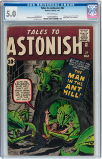 Tales to Astonish #27 (Marvel, 1962) CGC VG/FN 5.0 Off-white pages