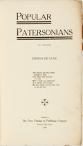 Books:Art & Architecture, [Cartoons, Caricature, New Jersey]. Popular Patersonians (in Cartoon). Paterson, NJ: The Press Printing & Publishing...
