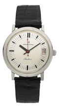Timepieces:Wristwatch, Hamilton Rare Model 507 Calendar Electric, One of 25, Not Marketed....