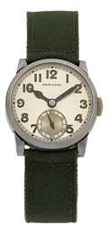 Timepieces:Wristwatch, Hamilton-Illinois U.S.A. Made 7 Jewel Grade 987 Prototype, Only Example Known. ...