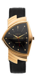 Timepieces:Wristwatch, Hamilton Very Rare & Important 18k Rose Gold Ventura From The Personal Collection Of René Rondeau. ...