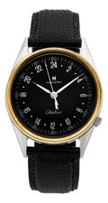 Timepieces:Wristwatch, Hamilton Rare 24-Hour Military Electric From The René RondeauCollection. ...