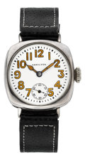 Timepieces:Wristwatch, Hamilton Sterling Grade 985 Wristwatch, circa 1915 From The RenéRondeau Collection. ...