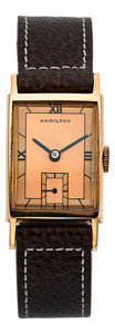 "Timepieces:Wristwatch, Hamilton Rose Gold ""Brock"", Rondeau Collection. ..."