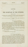Books:Americana & American History, [American History]. Letter of the Secretary of the Interior,Communicating, in compliance with a resolution of the Senat...