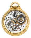 Timepieces:Pocket (post 1900), Hamilton Unique One-Of-A-Kind Transparent 992 Pocket Watch From The Personal Collection Of René Rondeau. ...