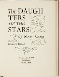 Edmund Dulac, illustrator. SIGNED/LIMITED. Mary Crary. The Daughters of the Stars. London: Hatc