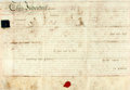 Books:World History, Land Indenture in the Reign of George The Third. Manuscript on vellum. Dated September 20, 1812. ...