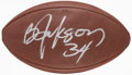 Autographs:Bats, Bo Jackson and Marcus Allen Multi Signed Football....