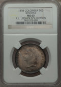 Colombia, Colombia: Republic 50 Centavos 1898 MS63 NGC,...