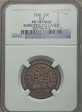 Bust Quarters, 1836 25C B-4, R.4, -- Improperly Cleaned -- NGC Details. AU. NGC Census: (0/2). Mintage: 472,000. ...