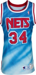 Basketball Collectibles:Uniforms, 1990-91 Chris Morris Game Worn New Jersey Nets Jersey. ...
