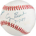 Baseball Collectibles:Balls, Circa 1990 President George Bush Single Signed Personalized Baseball from The Brooks Robinson Collection....