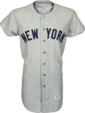 Baseball Collectibles:Uniforms, 1971 Jim Lyttle Game Worn New York Yankees Jersey. ...