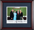Baseball Collectibles:Photos, 2000's President George W. Bush & First Lady Laura Bush SignedPhotograph from The Brooks Robinson Collection....