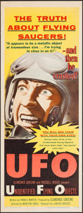 "Movie Posters:Science Fiction, UFO: Unidentified Flying Objects (United Artists, 1956). Insert(14"" X 36""). Science Fiction.. ..."