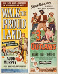 """Movie Posters:Western, Walk the Proud Land & Other Lot (Universal International, 1956). Inserts (2) (14"""" X 36""""). Western.. ... (Total: 2 Items)"""