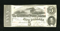 Confederate Notes:1863 Issues, T60 $5 1863. Detective work uncovers a fold. Choice AboutUncirculated....