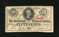 Confederate Notes:1863 Issues, T63 50 Cents 1863. This 1st Series note saw circulation for theConfederacy....
