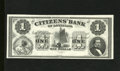 Obsoletes By State:Louisiana, New Orleans, LA- Citizens' Bank of Louisiana $1 18__. President Fillmore's portrait is found on this black and white remaind...