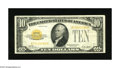 Small Size:Gold Certificates, Fr. 2400 $10 1928 Gold Certificate. Fine-Very Fine.. A nice third printing compliments this bright note for the grade that s...