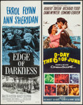 "Movie Posters:War, Edge of Darkness & Other Lot (Dominant, R-1956). Inserts (2)(14"" X 36""). War.. ... (Total: 2 Items)"
