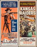 """Movie Posters:Western, No Name on the Bullet & Other Lot (Universal International, 1959). Inserts (2) (14"""" X 36""""). Western.. ... (Total: 2 Items)"""