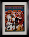 Football Collectibles:Photos, Dan Marino and Joe Montana Multi Signed UDA Print....