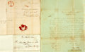 Miscellaneous:Ephemera, Three Mexican War Related Documents including: Capt. Seth B.Thornton Autograph Document Signed....
