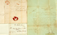Three Mexican War Related Documents including: Capt. Seth B. Thornton Autograph Document Signed