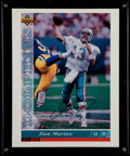Football Collectibles:Photos, Dan Marino Signed Oversized UDA Card....