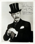 Autographs:Celebrities, Actor and Producer Howard Lindsay Signed Photograph....