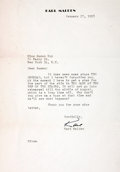 Autographs:Celebrities, Actor Karl Malden Typed Letter Signed...