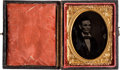 Political:Ferrotypes / Photo Badges (pre-1896), Abraham Lincoln: 1860 Campaign Ambrotype....