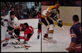 Hockey Collectibles:Photos, Bobby Orr Signed Photograph & Magazine Page (2)....